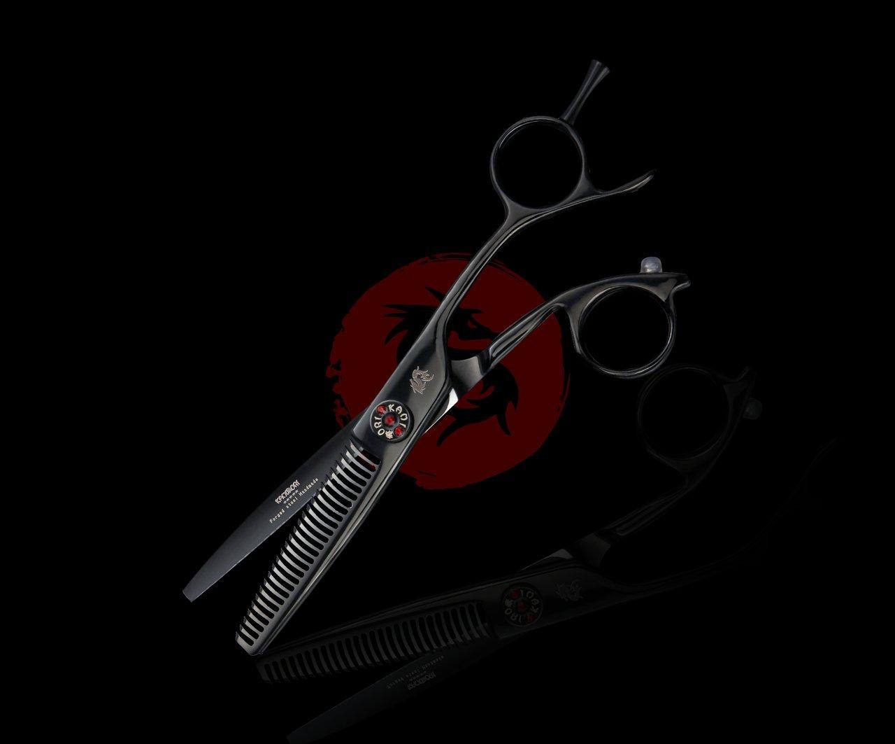 Kamisori Black Diamond 30 Tooth Texturizing / Thinning Shear / Scissor (57A8BA44) - Authorized Distributor