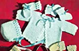 Crocheted Beauty Baby Set - Crochet Pattern for Sweater, Booties, Mittens and Hat - Download Kindle Baby Crochet Pattern