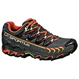 La Sportiva Women's Ultra Raptor GTX Trail Running Shoe, Grey/Coral, 40.5 M EU