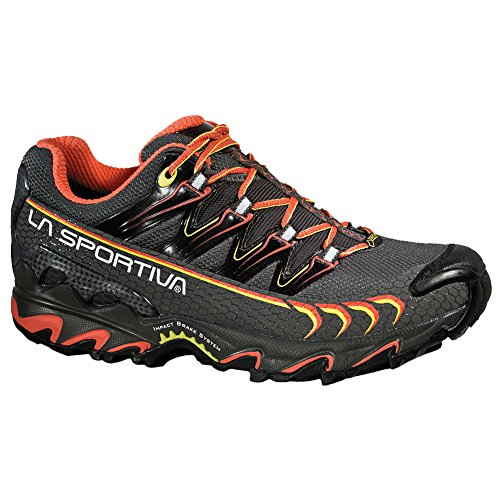 La Sportiva Women's Ultra Raptor GTX Trail Running Shoe, Grey/Coral, 39 M EU
