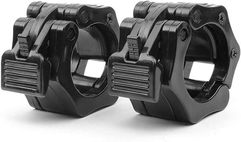 Olympic Size Weight Clamps Quick Release Collar Clips 50mm Bar Clamps Great for Weight Lifting Olympic Lifts and Strength Training ALLOMN 1 Pair Barbell Collars