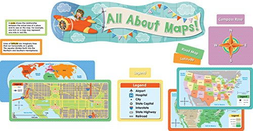 All About Maps Mini Bulletin Board Set ()