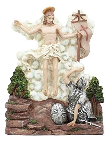 (Ebros Christian Catholic Stations of The Cross Statue Way of The Sorrows Via Crucis Jesus Christ Path to Calvary Crucifixion Decor Figurine (Station 15 Jesus is Risen and Glorified))