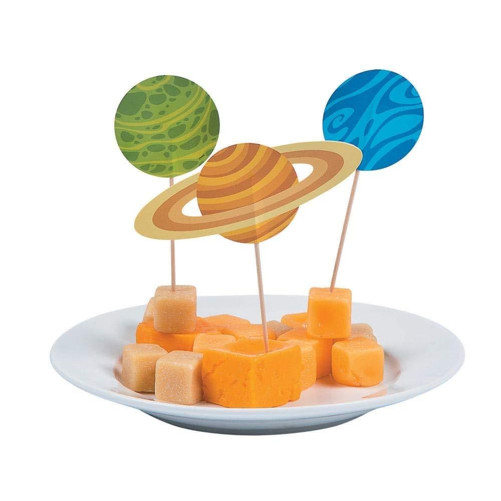 Space Party Cupcake Picks - 25 pcs Fun Express