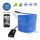 Wireless Endoscope THZY WiFi Borescope Inspection Camera 2.0 Megapixels HD Snake Camera for Android IOS Smartphone, iPhone, Tablet iPad 10M Blue