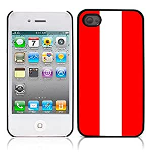 flag of Austria Hard Plastic and Aluminum Back Case for Apple iphone 4 4S