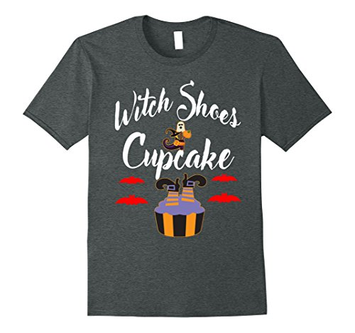 Mens Witch Shoes Cupcake Halloween T Shirt Small Dark (Cup Cake Halloween)
