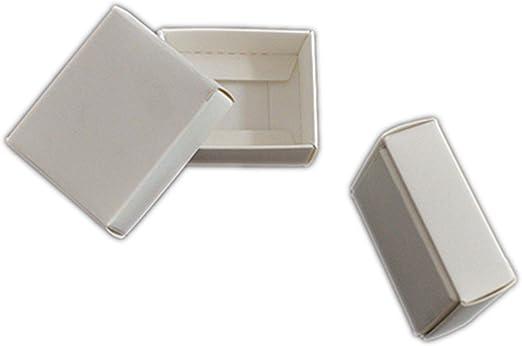 HOME+A - Caja de Regalo Grande con Tapa, Caja pequeña de cartón, Caja de jabón, Cajas de Papel para embalar, Color Blanco y Negro, Synthesis, Blanco, 32x24x4cm: Amazon.es: Hogar