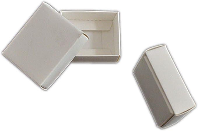 HOME+A - Caja de Regalo Grande con Tapa, Caja pequeña de cartón, Caja de jabón, Cajas de Papel para embalar, Color Blanco y Negro, Synthesis, Blanco, 23x18x4cm: Amazon.es: Hogar
