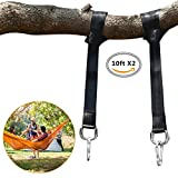 Tonovo 10ft Tree Swing Hanging Straps Kit Holds 4400 lbs,10ft Extra Long Straps with Safer Lock Snap Carabiner Hooks for Tree Swing & Hammocks,Perfect For Swings,Carry Pouch Easy Fast Installation