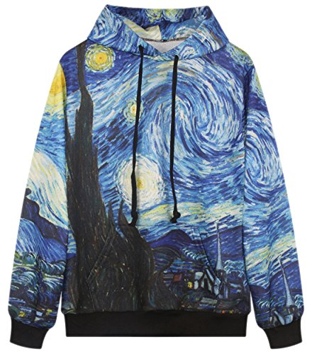 RAISEVERN 3d Abstract Painting Printed Grahphic Hoodie Sweatshirt with Pockets