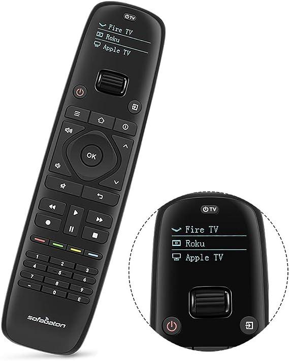 SofaBaton U1 - Mando a distancia con pantalla OLED y aplicación para smartphone, control remoto universal todo en uno para hasta 15 dispositivos de entretenimiento, compatible con Smart TV, DVD, STB, proyector,