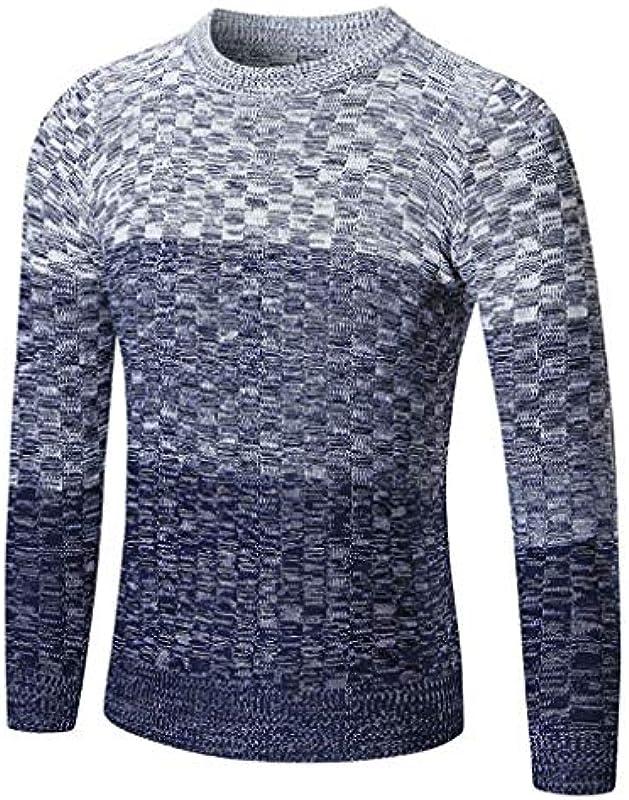 Męski jesień zima sweter z dzianiny Slim wiosna dzianina okrągły kołnierz dzianina jesień elegancki sweter istotnie sweter: Odzież