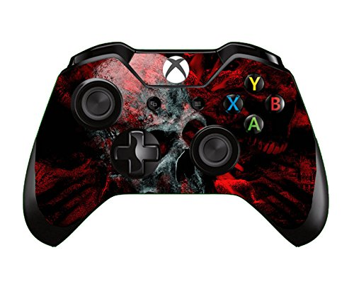 SKINOWN Xbox One Controller Skin Red Skull Sticker Vinly Decal Cover for Microsoft Xbox One DualShock Wireless Controller