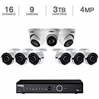 Lorex 16-Channel 3TB NVR x 6 4MP IP bullets / 3 domes 4MP Security System