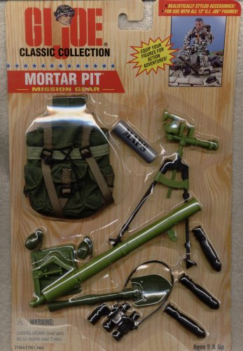 Mission Gi Joe Gear (1/6 Scale 1996 GI Joe Mission Gear Mortar Pit for 12 inches Action Figure)
