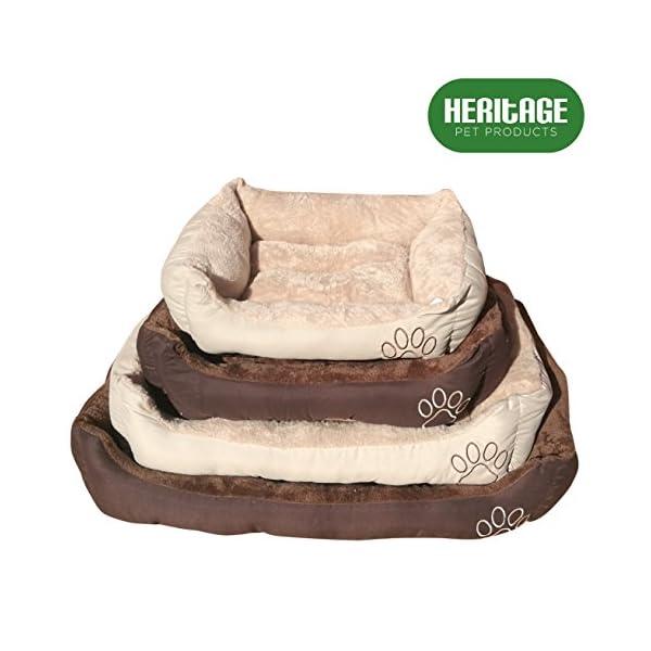 Heritage-Pet-Products-Deluxe-Cesta-de-cama-para-mascotas-suave-lavable-clida-con-forro-polar