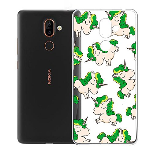 Case Nokia 7 Plus, LJSM Crystal Transparent TPU Soft Silicone Flexible Bumper Skin Back Shell Case with Clear Protection Cover for Nokia 7 Plus (6.0