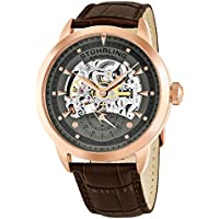 Men's 133.3345K54 Executive Automatic Self Wind Skeleton Leather Strap Watch