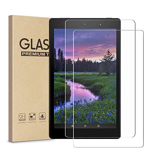 [2 Pack] Fire HD 8 Screen Protector, HISSP High Definition Clear 9H Hardness Scratch Resistant Tempered Film for All fire HD 8(2017/2016/2015 Released),fire HD 8 Kids Edition(2017 Released)