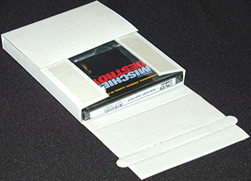 (100) Cardboard DVD Box Deluxe Single Mailers - Non Sealing - DVBC01SALE