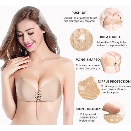 f8a8e98a65247 durable modeling AbSexy Self Adhesive Bra Invisible Strapless Push Up Bra