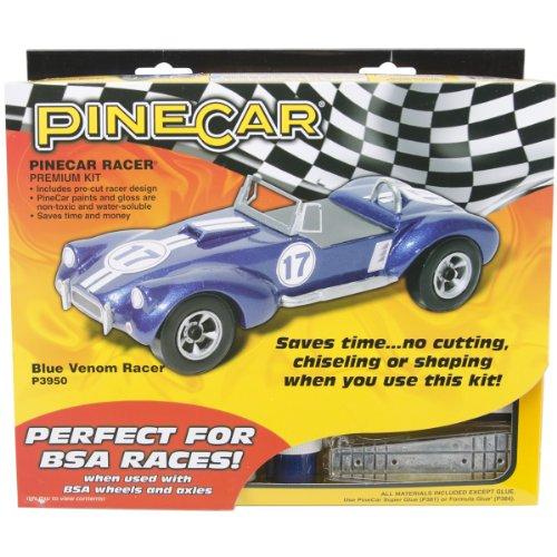 Woodland Scenics Pine Car Derby Racer Premium Kit, Blue Venom (P3950) (Pine Derby Car Designs Best)