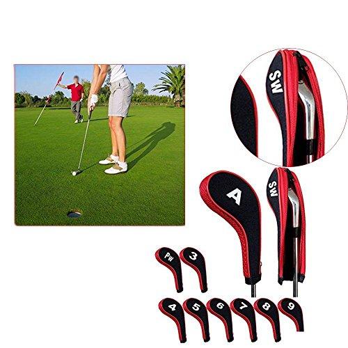 Sbeautli Fit Prevents Damage Zipper Design Golf Head Cover Protector Putter Case Club Sleeve by Sbeautli
