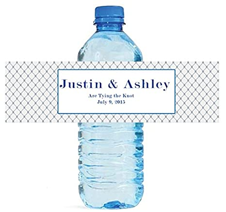 Wedding Water Bottle Labels.Amazon Com 100 Tying The Knot Wedding Water Bottle Labels