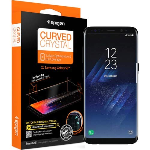 promo code 3f039 c6401 Amazon.com: Spigen Galaxy S8 Screen Protector Curved Crystal / 2 ...