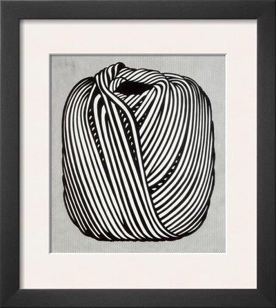 Ball of Twine, 1963 Framed Art Poster Print by Roy Lichtenstein, 14x16