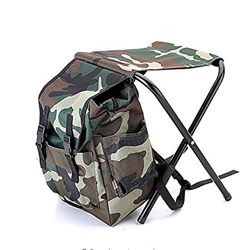 Heave Camouflage Fishing Backpack Cooler Bag Chair High-Intensity Steel Cross Chair for Camping by Heave