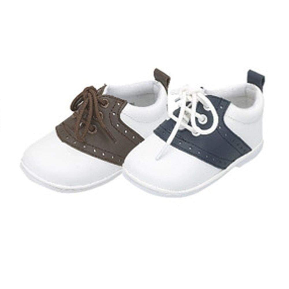 Baby Toddler Boys Navy White Lace Up Trendy Saddle Shoes Size 2-7