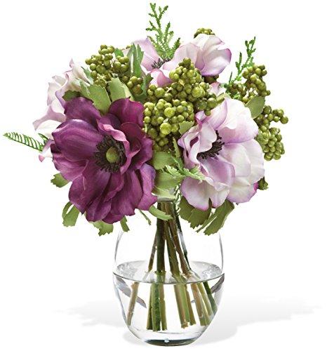 Silk Flower Accents - Berry & Anemone Silk Flower Accent - Lavender/Purple
