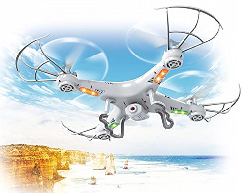 Top Race TR-Q511 4-Channel Quad Copter Drone with Camera, 1 Key Return & Headless Mode Option