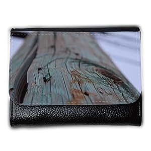 le portefeuille de grands luxe femmes avec beaucoup de compartiments // M00158655 Madera rústica azul vieja de la // Medium Size Wallet