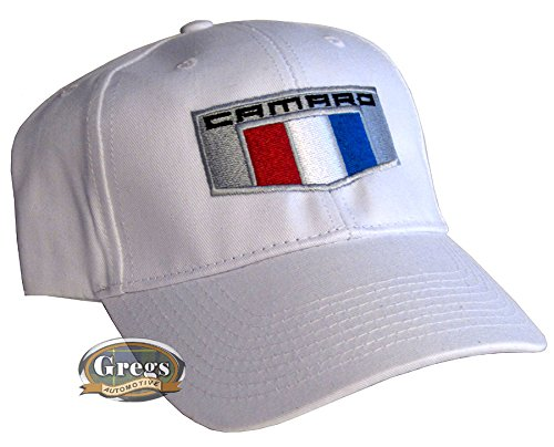 Gregs Automotive Compatible Camaro 6Th Generation Hat White Made in USA Bundle with Driving Style Decal NC-545-RD
