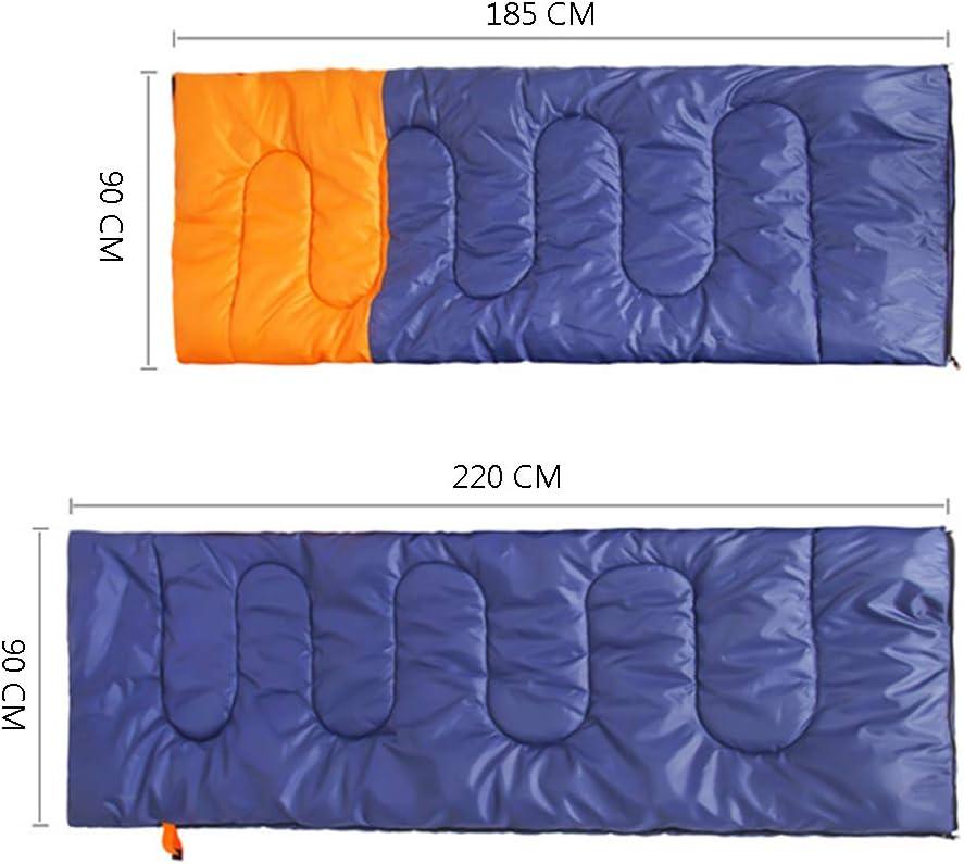 Compatto e Resistente allAcqua per Un Sonno Caldo e Confortevole KADDGN Doppio Sacco a Pelo 220 x 180 Centimetri Doppio Enorme Sacco a Pelo Leggero