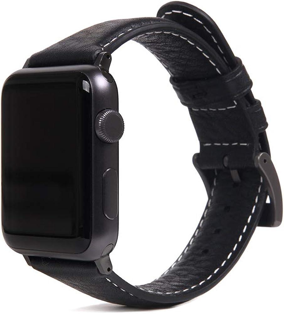 SLG D6 Italian Minerva Box Leather Strap for Apple Watch