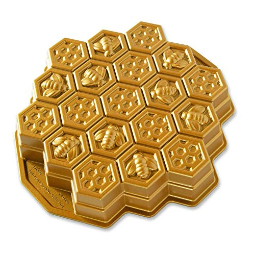 Nordic Ware 85477 Honeycomb Pull - Apart Pan, One Size, Gold