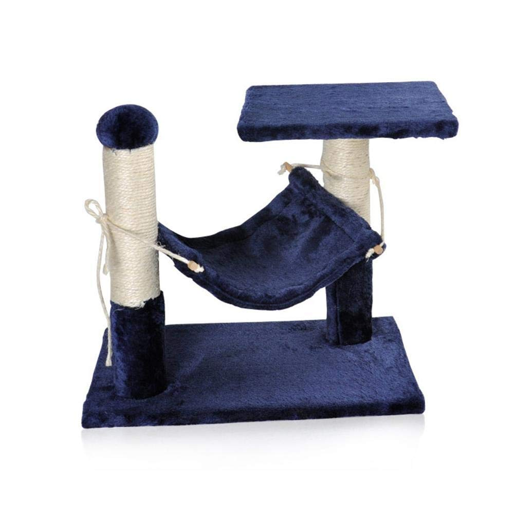 TOUYOUIOPNG Deluxe Multi Level Cat Tree Creative Play Towers Trees for Cats Sisal Cat climbing Shelf double cat tree cat nest for sleeping game size  40cm 40cm  30cm (color   bluee)