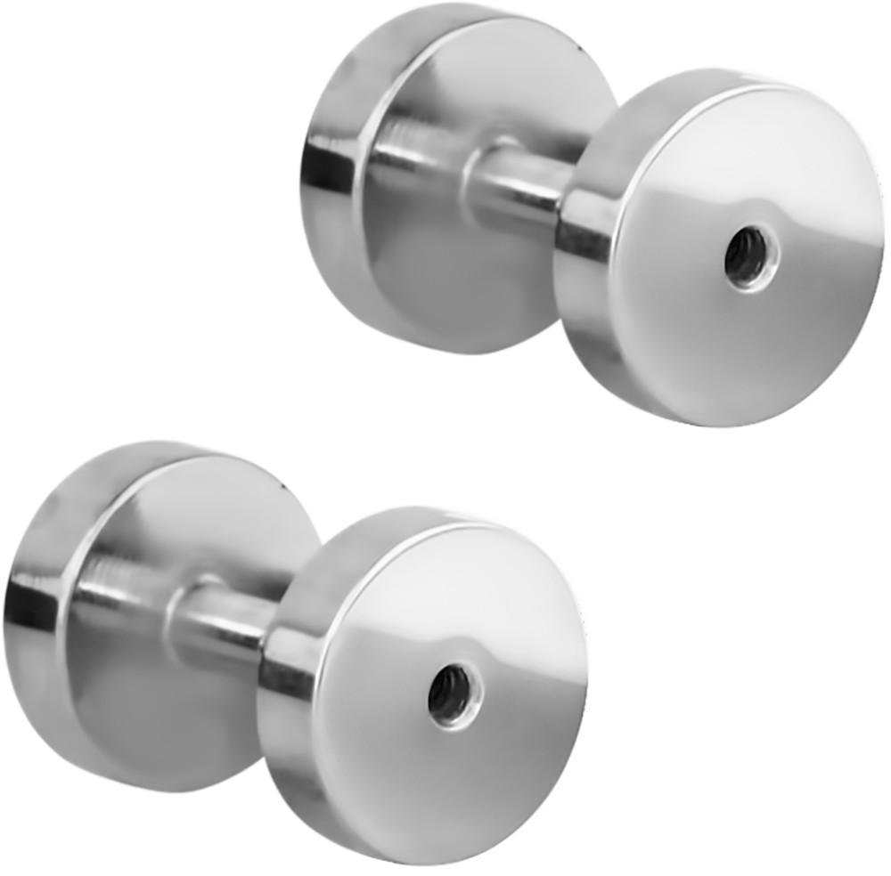 Set of 14G Surgical Steel Ear Gauges Screw Fit Tunnels, 14 Gauge Tunnel Plug Earrings
