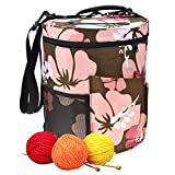 Woolen Yarn Storage Bag Portable Tote Light and Easy to Carry Pockets Accessories Organizer organizing with Shoulder Strap Home as Crossbody Print Large-Sized Cylinder