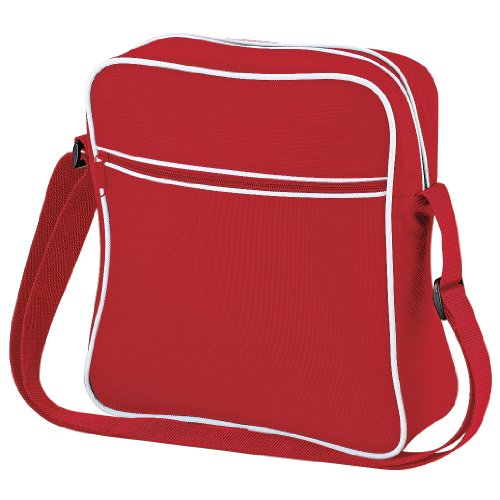 Bagbase Retro Flight/Travel Bag (7 Liters) (One Size) (Classic Red/White)