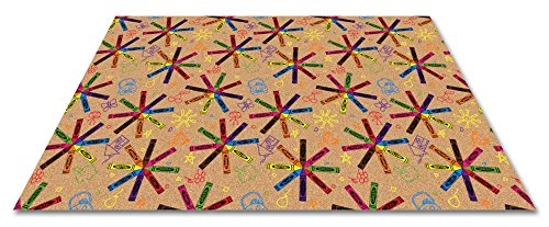 Crayons Rug - Kid Carpet FE811-54Y Crayon Scribbles Children's Nylon Area Rug, 12' x 9', Multicolored