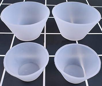 4 piezas de dispensador de color silicona resina pegamento herramientas de medición de vidrio escala joyería herramientas resina moldes 2 piezas L+ 2 piezas ...