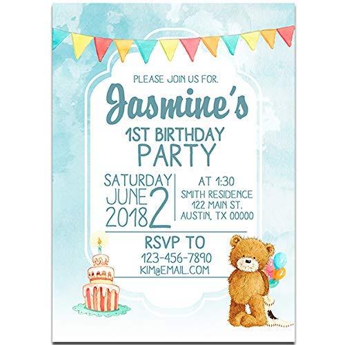 Amazon Popcorn The Bear Birthday Party Invitations