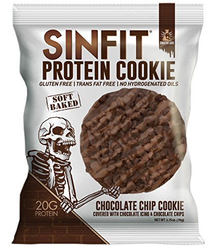 Grandmas Chocolate Chip - SINFIT Protein Cookie by Sinister Labs - 20g protein Gluten-free - 2.75 oz (Chocolate Chip, 10-Pack)