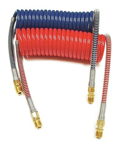 Coiled Air Set Power ProductsTM Coiled Set Red & Blue Working Length - 15 ft Pigtail Length - 12 in Valve Ends (Trailer Brake Pig Tail compare prices)