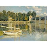 Oil painting 'The Bridge at Argenteuil, 1874 By Claude Monet' printing on Perfect effect Canvas , 16x21 inch / 41x54 cm ,the best Garage gallery art and Home decor and Gifts is this Imitations Art DecorativeCanvas Prints